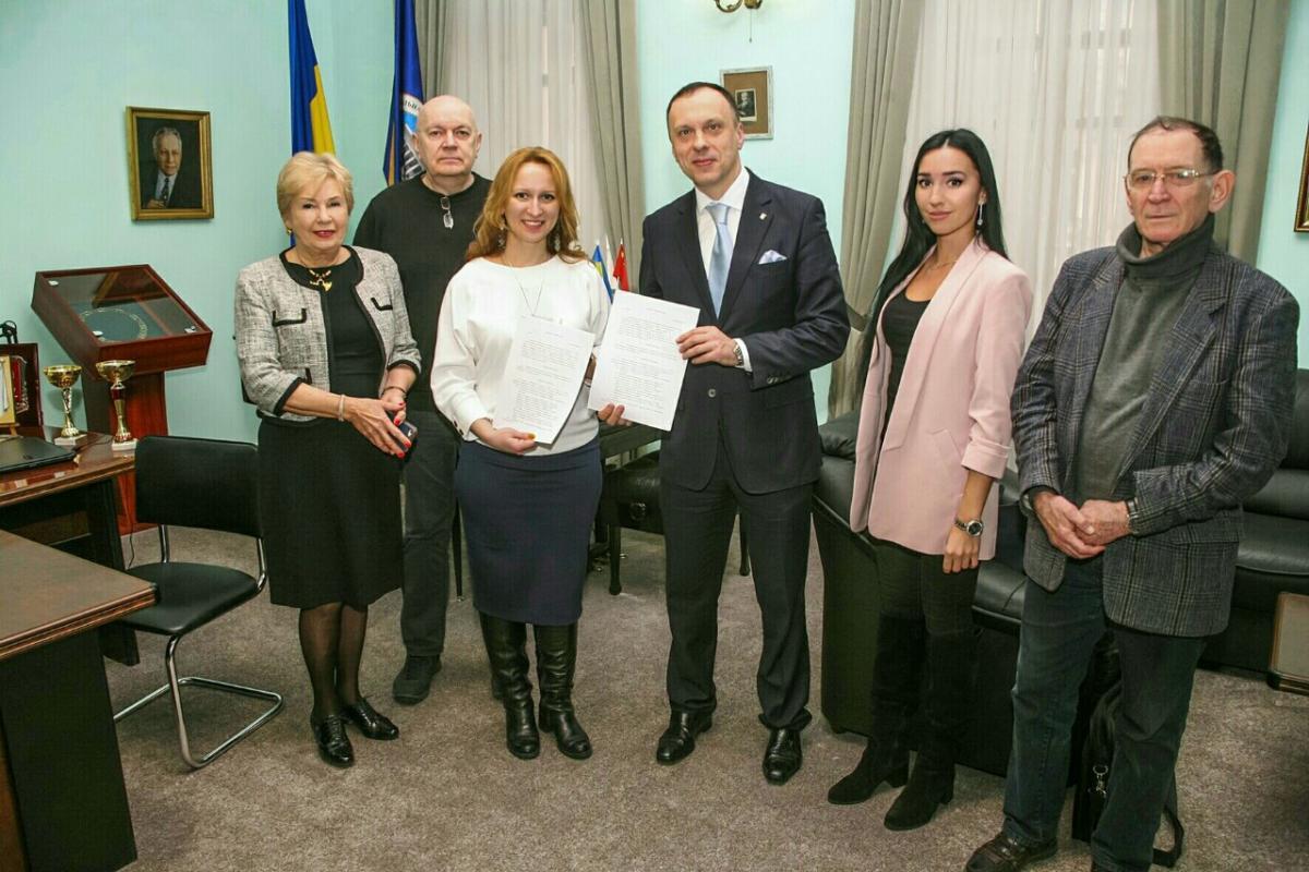 договор с музыкальной академией Украины им. Чайковского подписан
